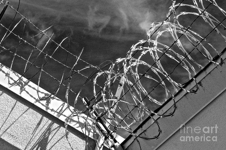 Jail Photograph - Danger Zone by Gwyn Newcombe