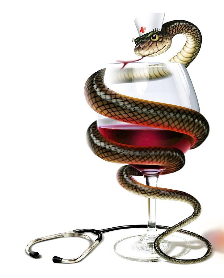 Картинка рюмка со змеей