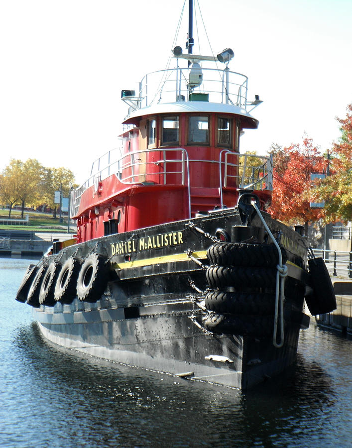 Boat Photograph - Daniel Mcallister Tug Boat Old Port Montreal Canada by Rosie Brown