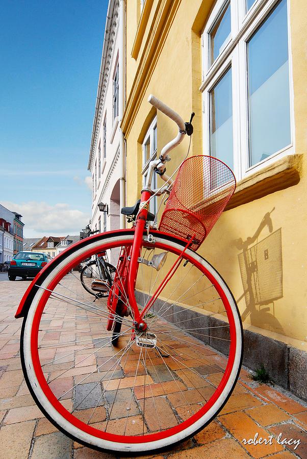 Bicycle Photograph - Danish Bike by Robert Lacy
