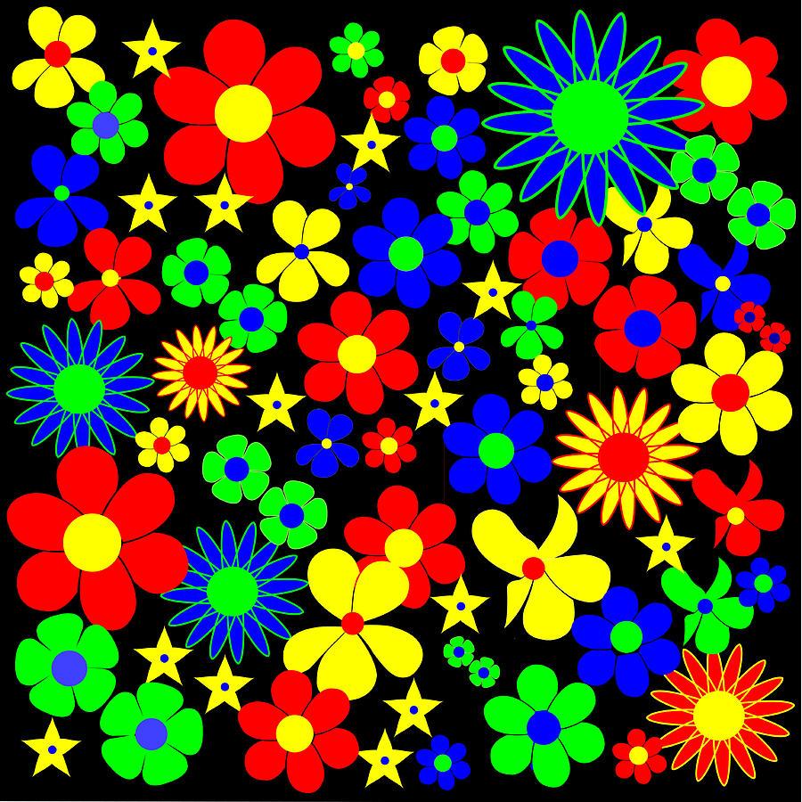 Black Rocket Digital Art - Danish Flowers Flora Danica Square by Asbjorn Lonvig