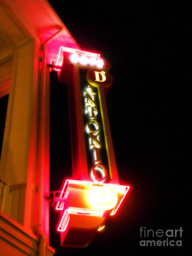 Neon Photograph - Dantonio In Neon by Becky Wanamaker