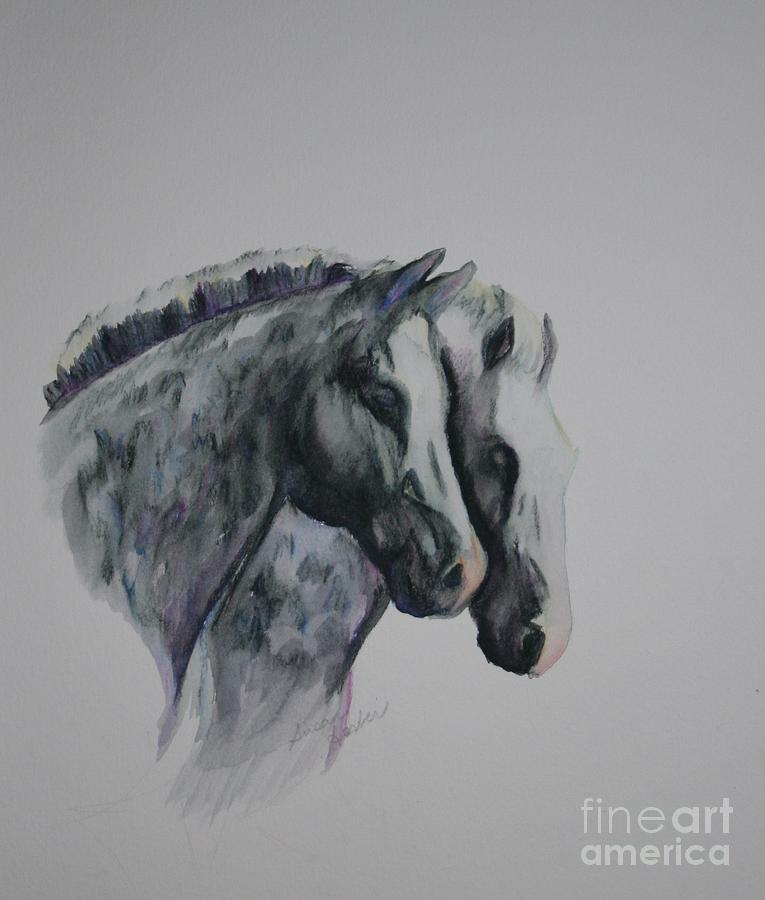 Dapple Horses Painting - Dapple Duo by Susan Herber