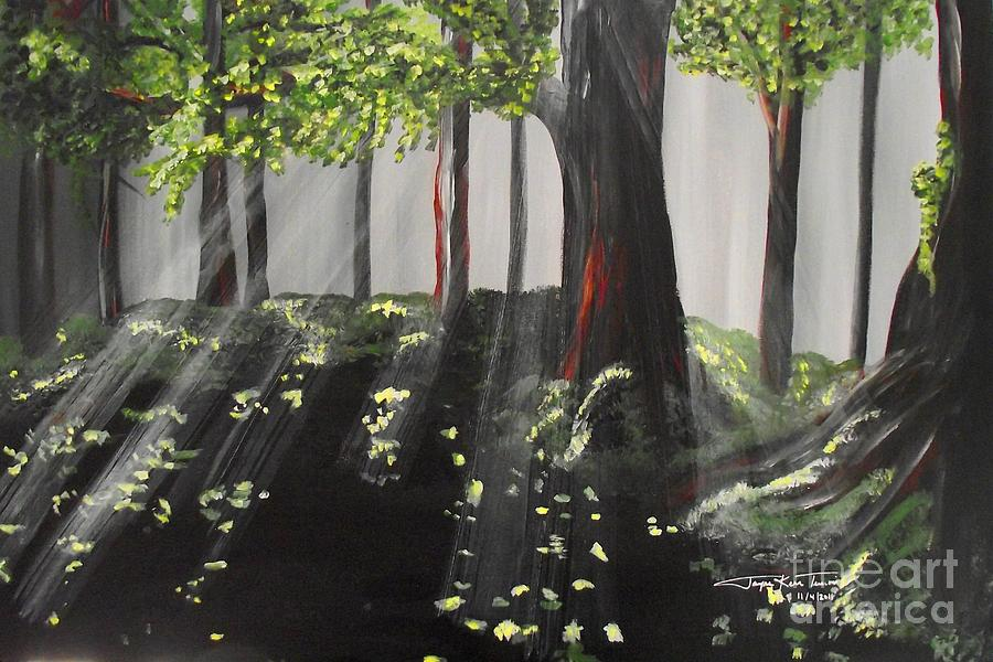 Art Painting Painting - Dappled Forest 1 by Jayne Kerr