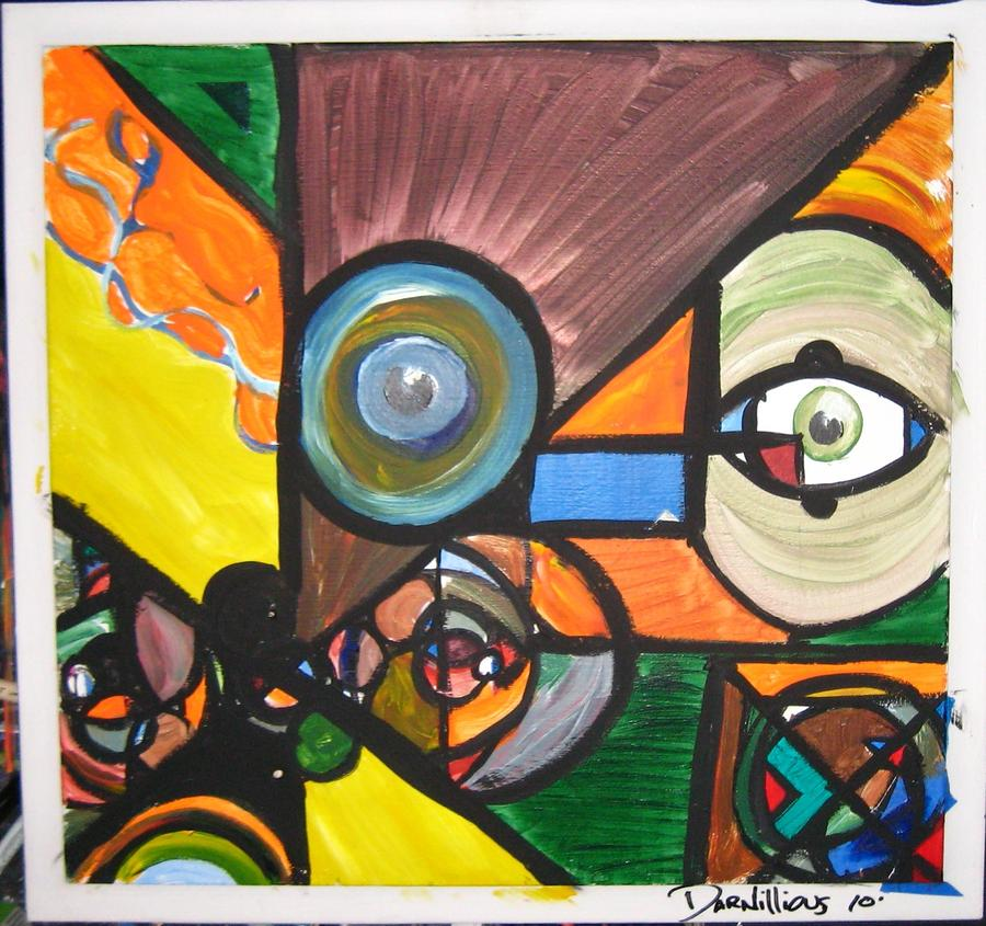 Abstract Painting - Darcasso by Darnillious Designs