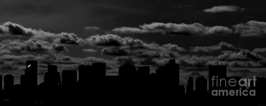 Boston Skyline Photograph - Dark And Stormy by Stacy Devanney