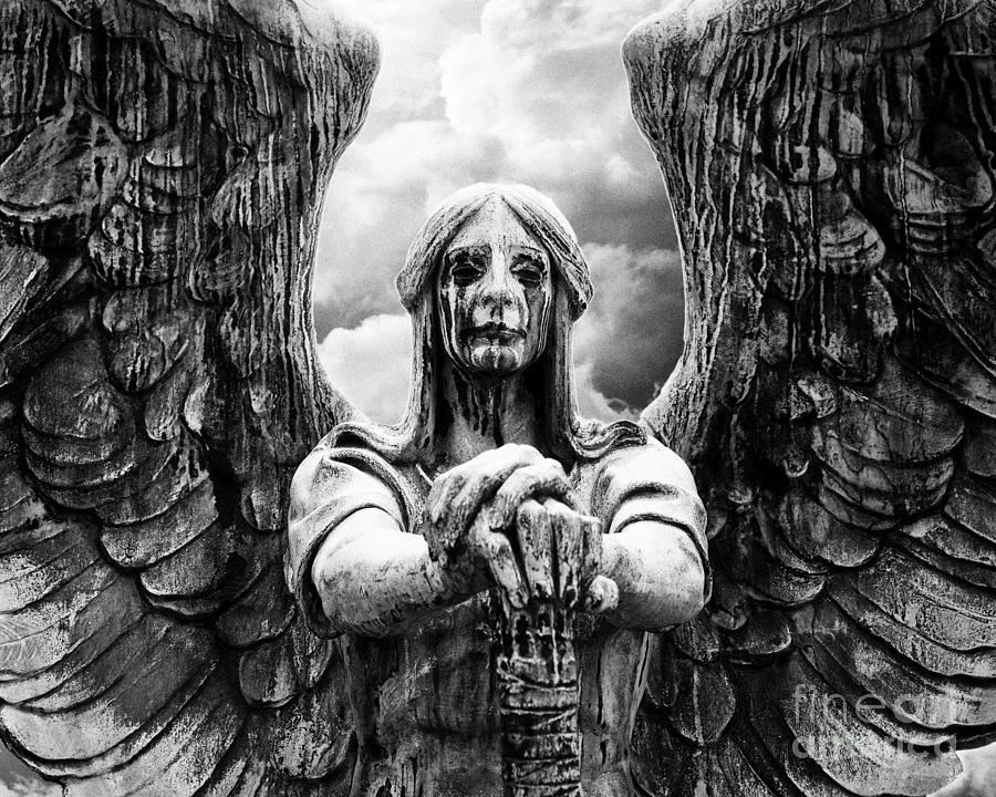 dark angel warrior photograph by anne raczkowski