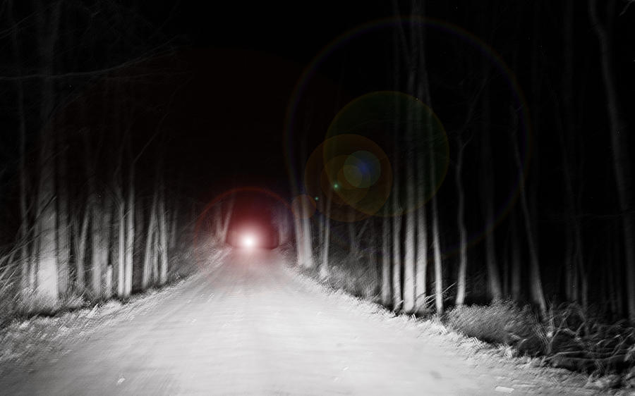 Dark Country Road Bright Light Photograph By LeeAnn McLaneGoetz
