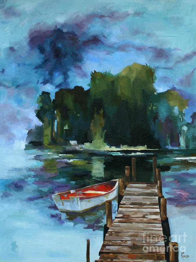 Boats Painting - Dark Forest by Pepe Romero