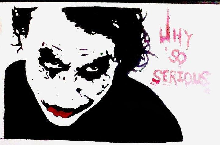 Dark knight joker painting by priyanka patil
