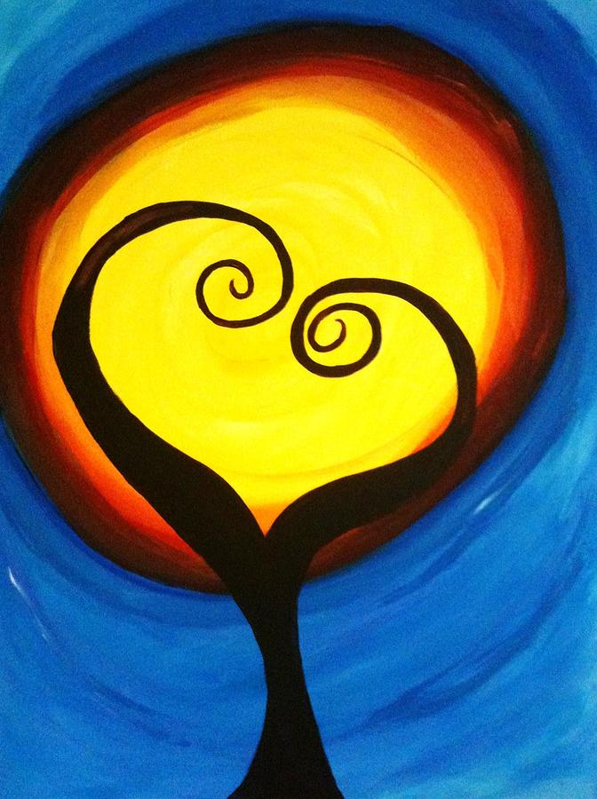 Dark Love Tree Painting By Vickie Smith
