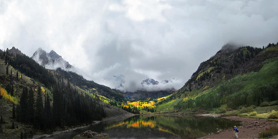 Maroon Bells Photograph - Dark Maroon by Ric Soulen