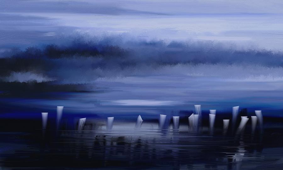 Abstract Painting - Dark Mist by Eleonora Perlic