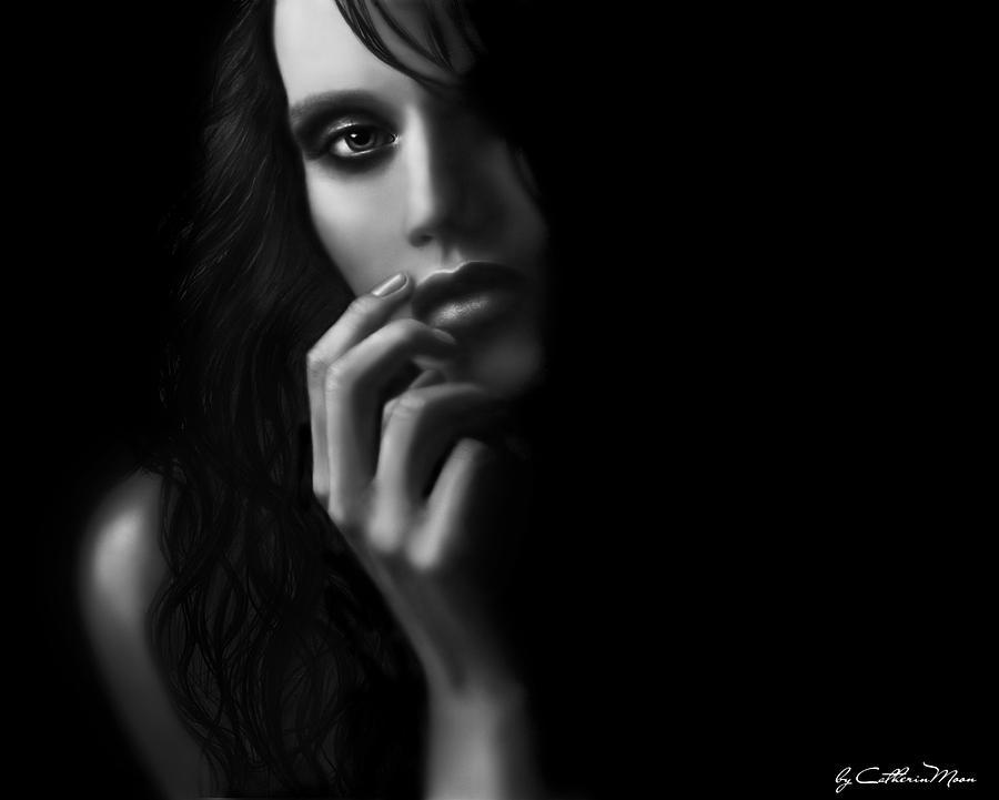 Mystery Digital Art - Dark Mystery by Catherin Moon