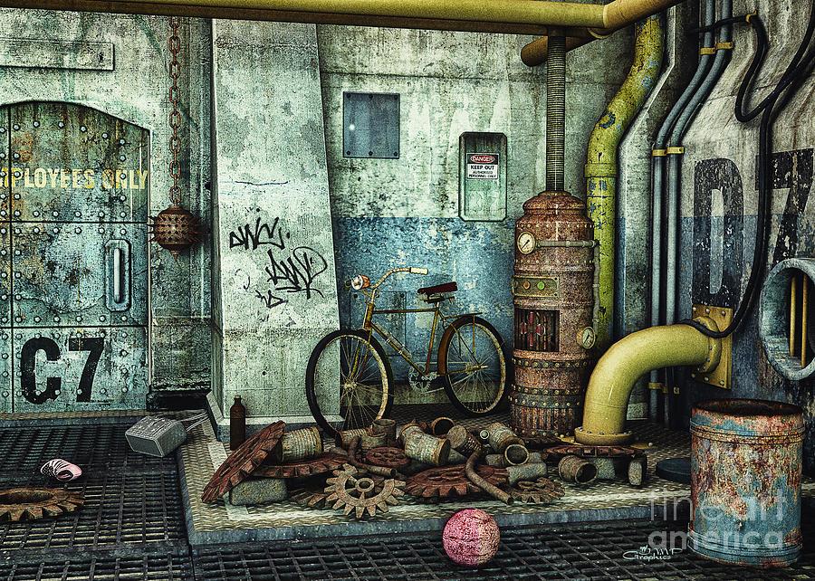 3d Digital Art - Dark Places Tell Stories by Jutta Maria Pusl