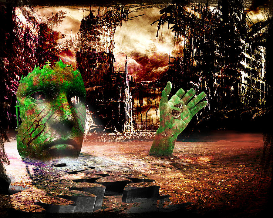 Apocalyptic Photograph - Dark Worlds 2 by Wendy White