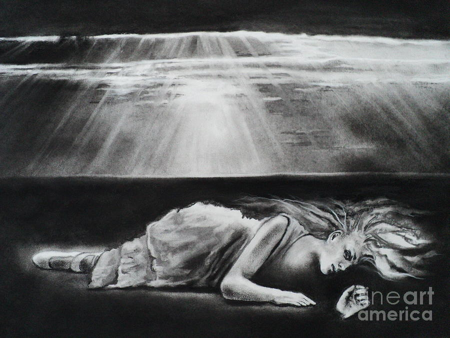 Darkness Drawing - Darkness Falls Upon Me by Carla Carson