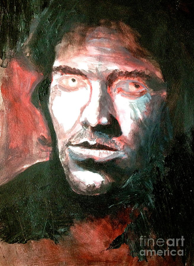 Portrait Painting - Darkness by Mike N