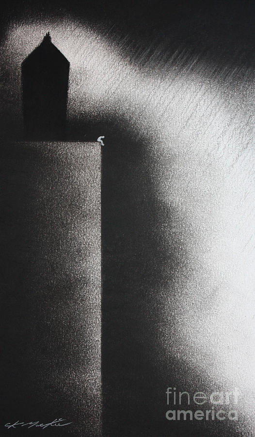 Loneliness Pastel - Darkness Shrouds My House by Chris Mackie