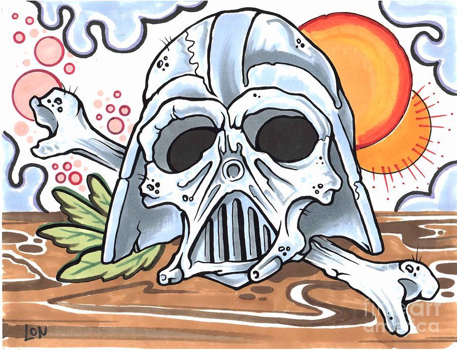 Darth Skull Drawing By Lon Bennett