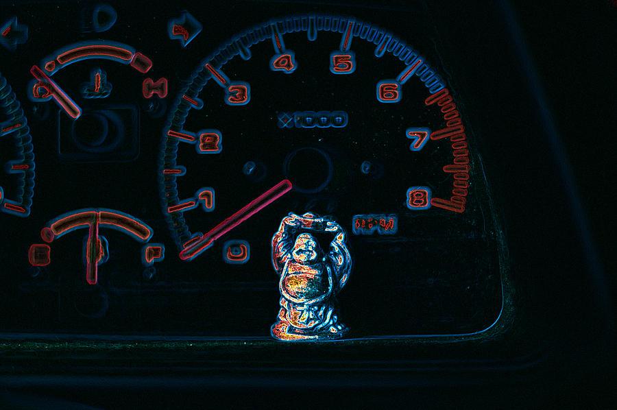 Dashboard Buddha by Travis Crockart
