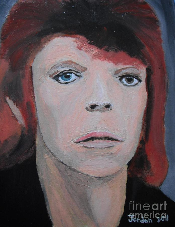 Artwork Painting - David Bowie The Early Years by Jeannie Atwater Jordan Allen