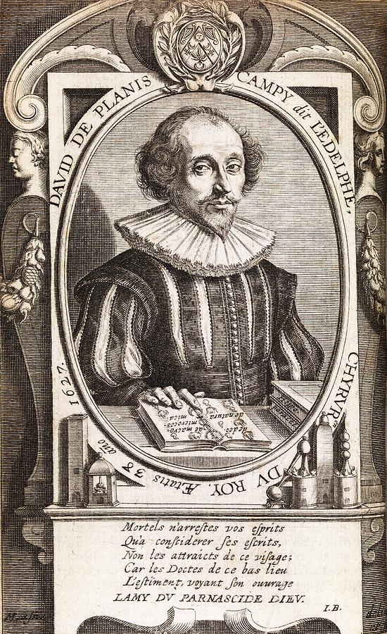 Human Photograph - David De Planis Campy, French Alchemist by Middle Temple Library