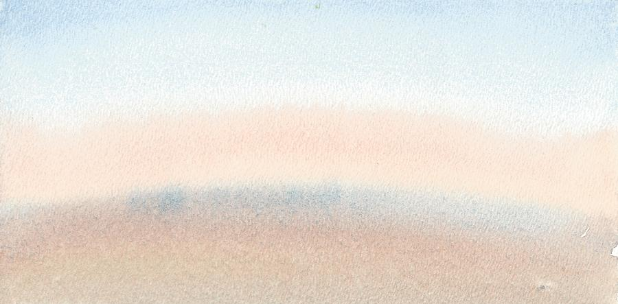 Watercolour Landscape Painting - Dawn Across The Isle Of Wight by Alan Daysh