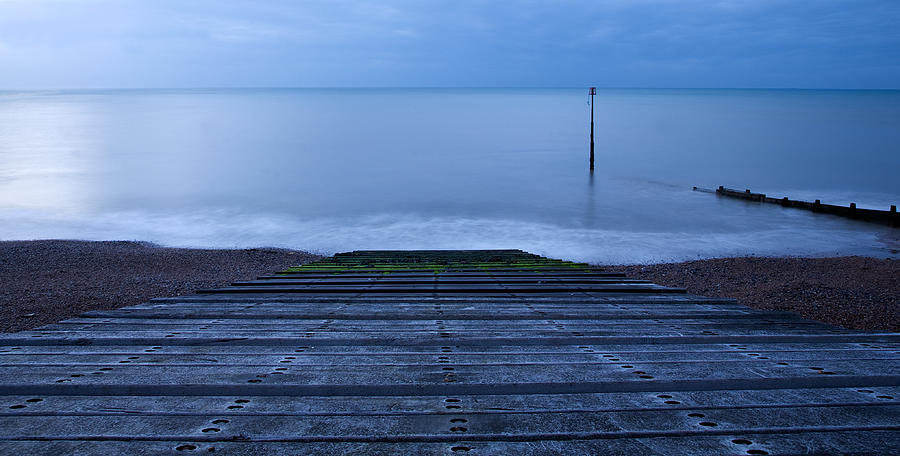Kingsdown Photograph - Dawn At Kingsdown by Ian Middleton