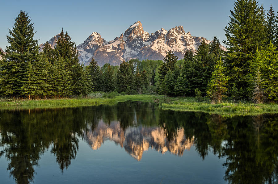 Grand Tetons Photograph - Dawn At Schwabacher Landing by Greg Nyquist