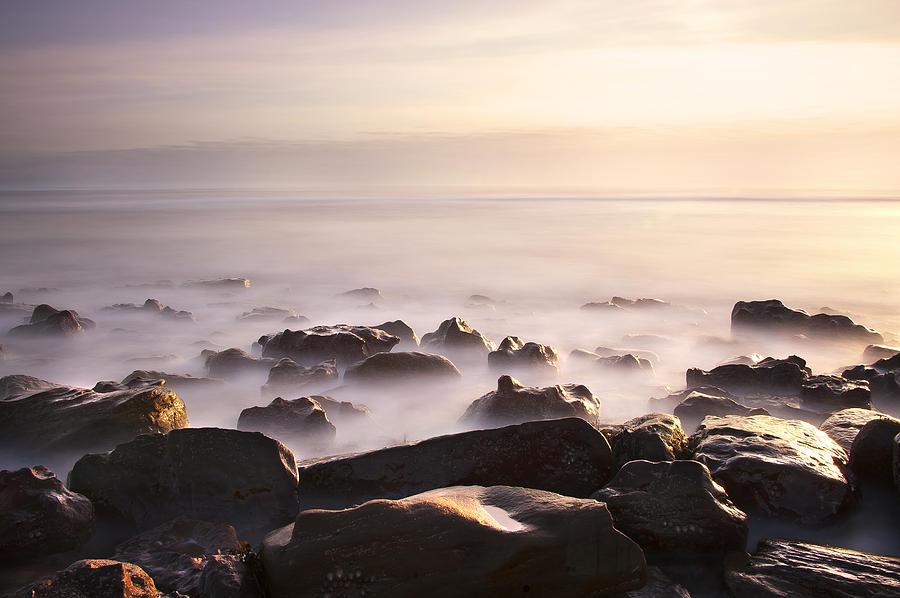 Bay Photograph - Dawn At Sea by Svetlana Sewell