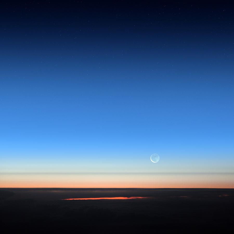 Earth Photograph - Dawn Seen From An Aeroplane by Detlev Van Ravenswaay
