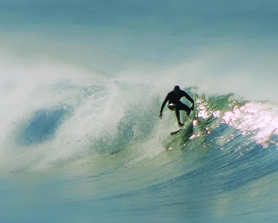 Surf Art San Diego Digital Art - Dawn Surfer by David Rearwin