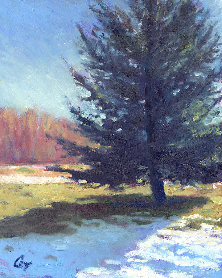 Nature Painting - Day After Snowfall by Michael Camp