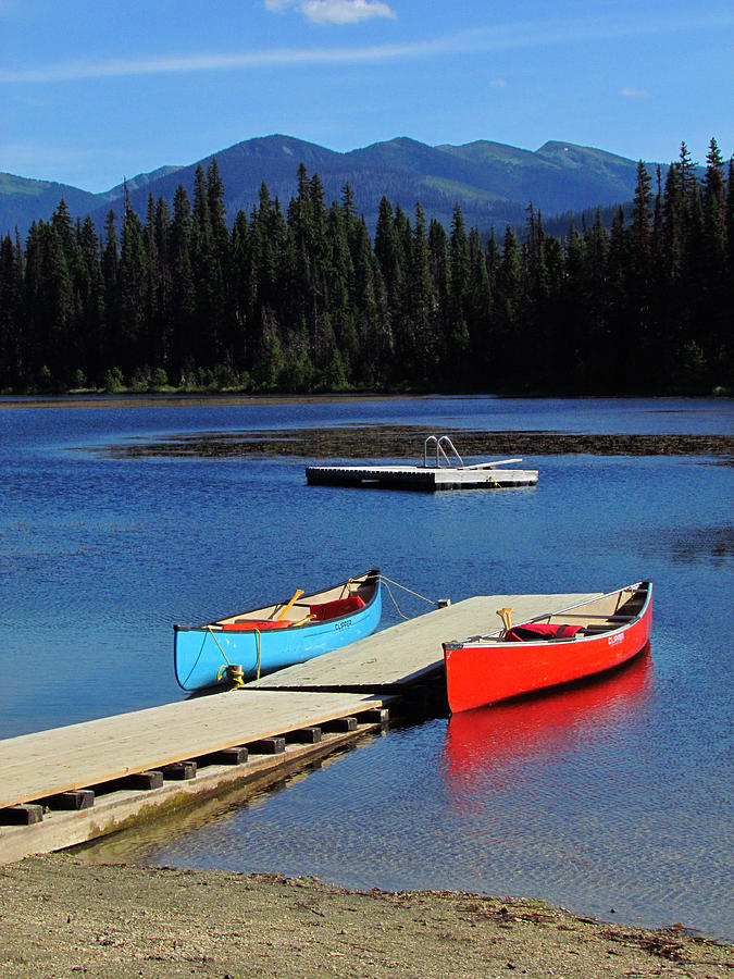 Canoe Photograph - Day At The Lake by Andrea Arnold