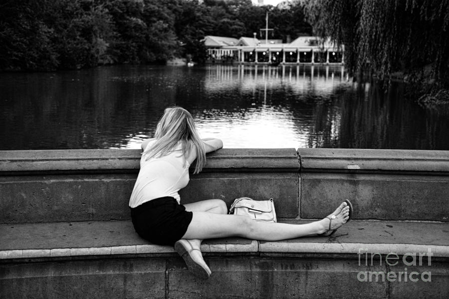 Black And White Photograph - Day Dreamer by Paul Ward