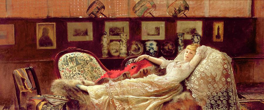Daydream Painting - Day Dreams by John Atkinson Grimshaw