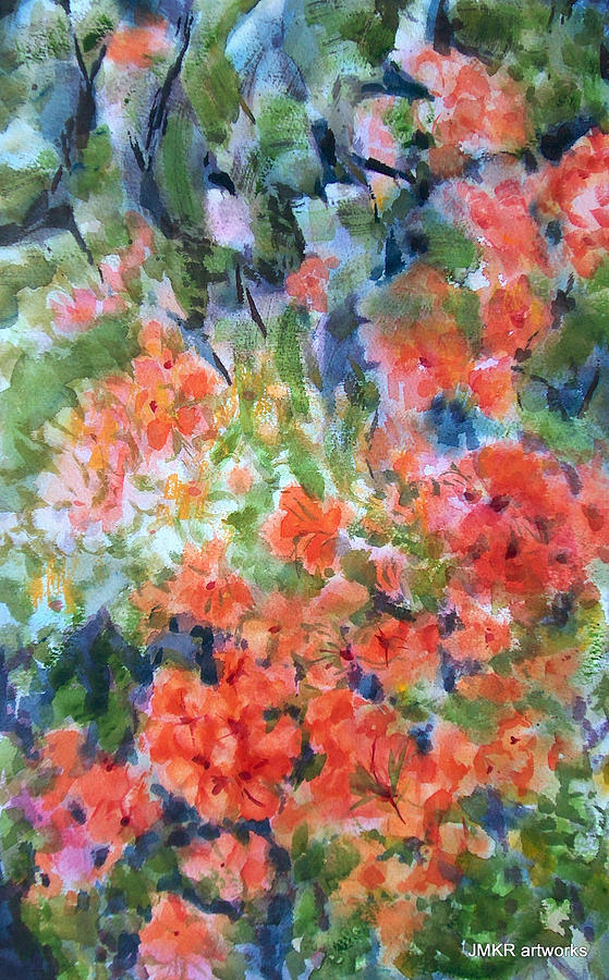 Day Painting - Day Lights by Judith Kerrigan Ribbens