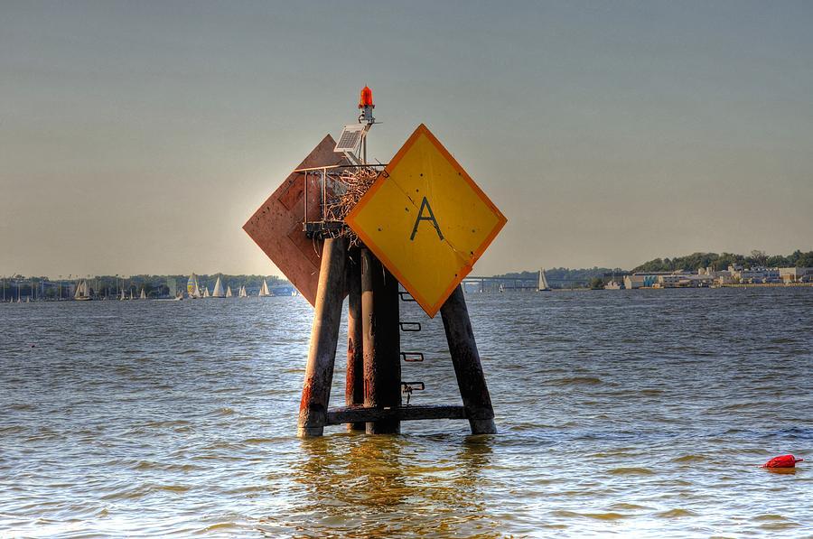 Boat Digital Art - Day Marker by Barry R Jones Jr