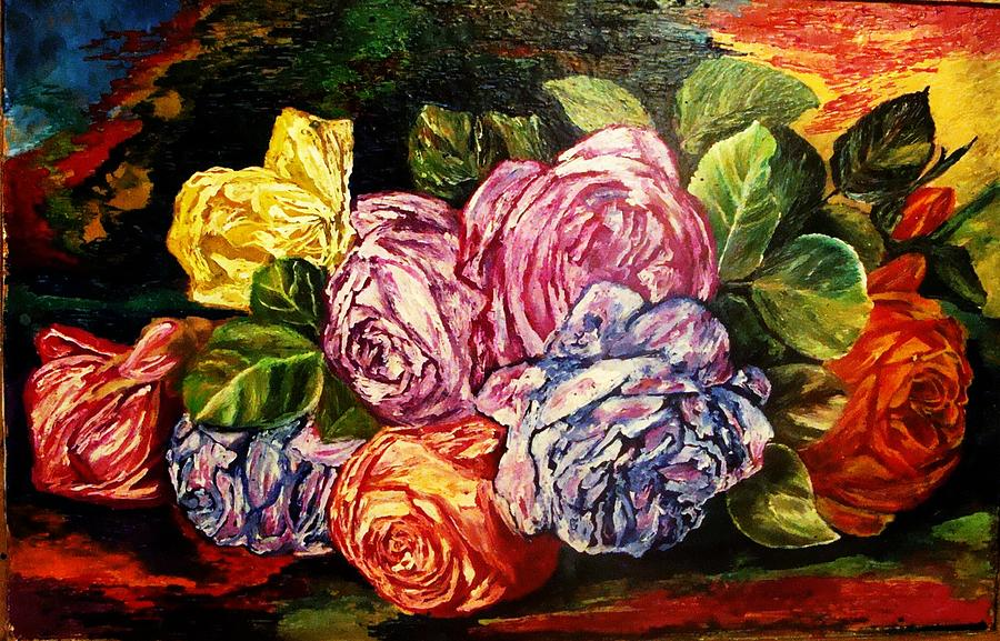 Rose Flower Painting - Day Of Forgiveness by Jeanne Mytareva