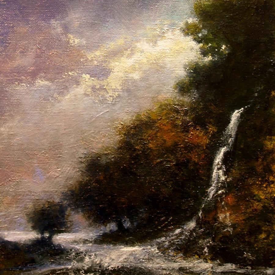 Landscape Painting - Daybreak Falls by Jim Gola