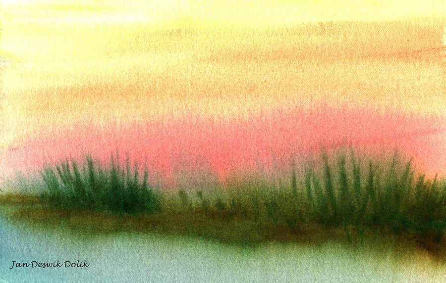 Day Break Painting - Daybreak by Jan Deswik