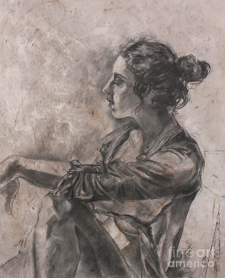 Mae Drawing - Daydreamer by Julianna Ziegler