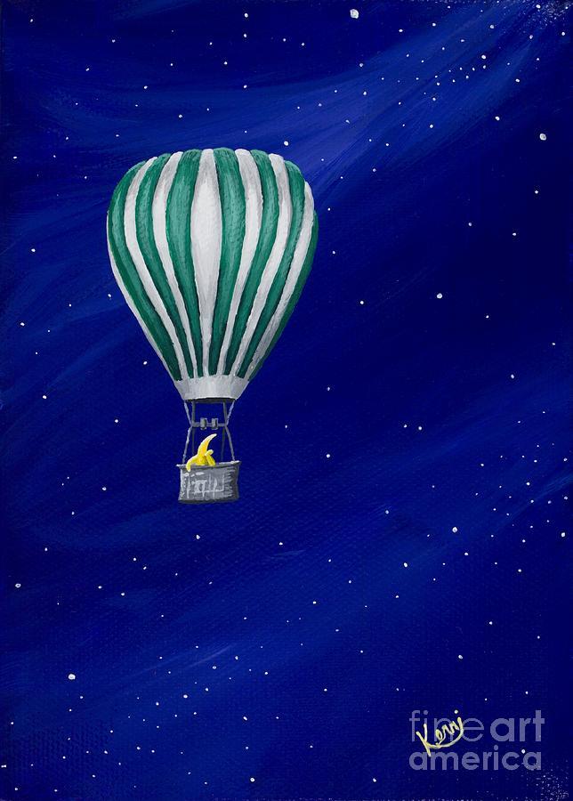 Hot Air Balloon Canvas Painting