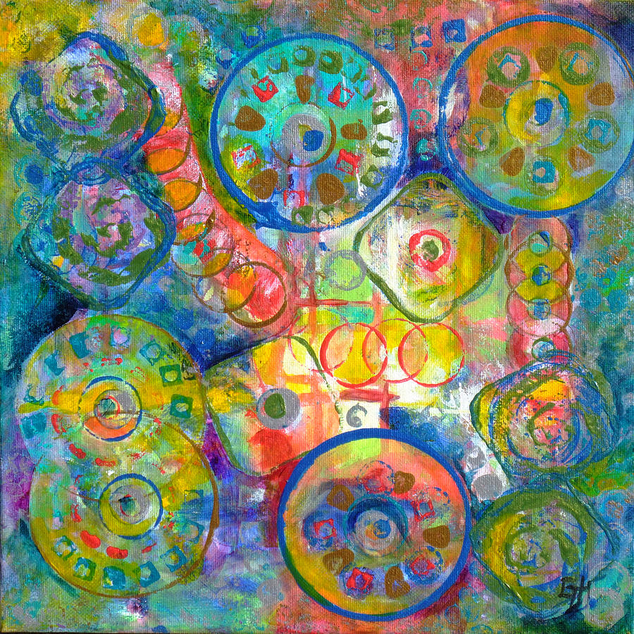Colorful Painting - Daydreams by Gretchen Ten Eyck Hunt