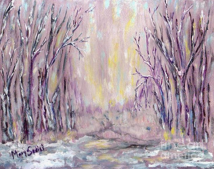 Contemporary Landscape Painting - Dazzling Winter  by Mary Sedici