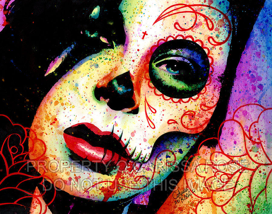 Day Of The Dead Painting - Dead Inside by Carissa Rose Stevens