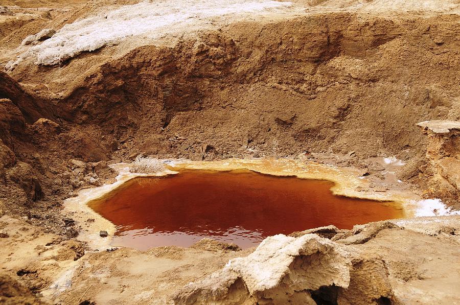 Dead Sea Photograph - Dead Sea Sinkhole by Photostock-israel