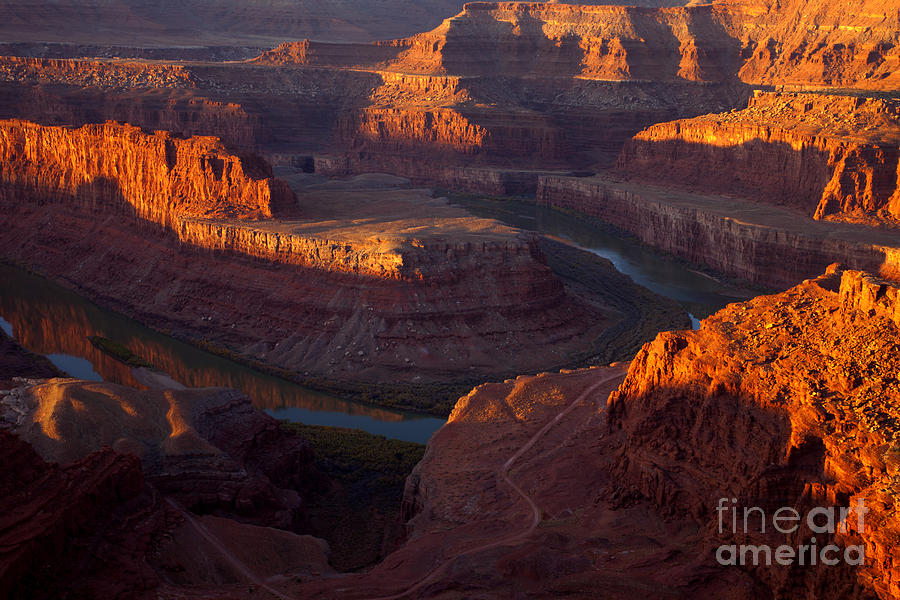 Canyon Photograph - Deadhorse Reflections by Mike  Dawson