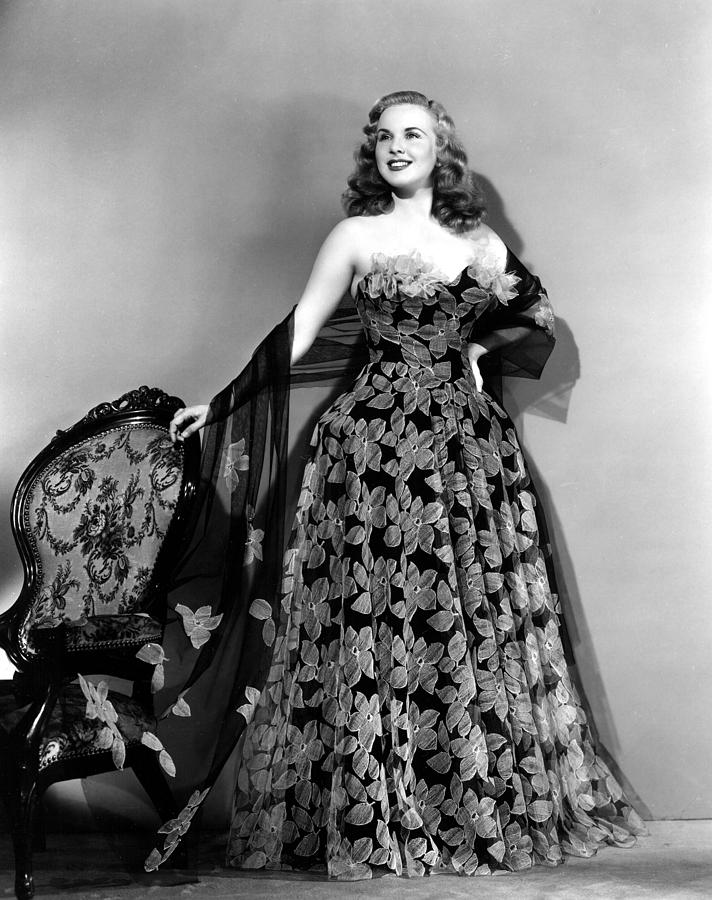 1940s Fashion Photograph - Deanna Durbin In Hoop Skirt Styled Lace by Everett